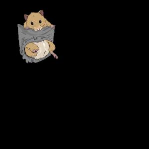 Hamster in Tasche Goldhamster Geschenk