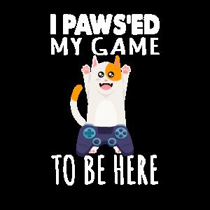 Gaming Cat Controller Katzen Shirt Geschenk
