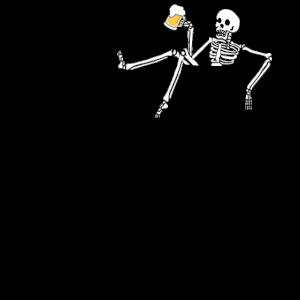 Skeleton Bier Tasche Chillen Skull Geschenk