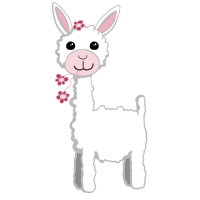 Kawaii Blumen Lama I niedliche Tiere I Geschenk