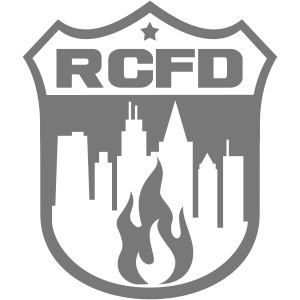 Rising Cities Fire Department Logo