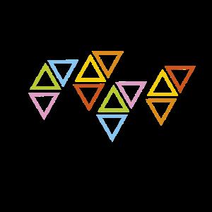 mehrfarbige Dreiecke