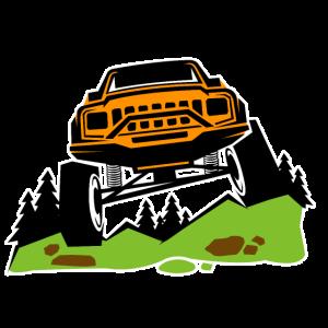 Geländewagen Berge