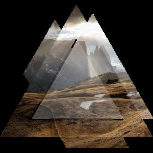 Dreieck Geometrie Landschaft Dolomiten