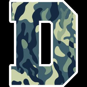 Dein Lieblingsbuchstabe D Camouflage