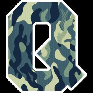 Dein Lieblingsbuchstabe Q Camouflage