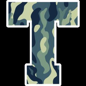 Dein Lieblingsbuchstabe T Camouflage