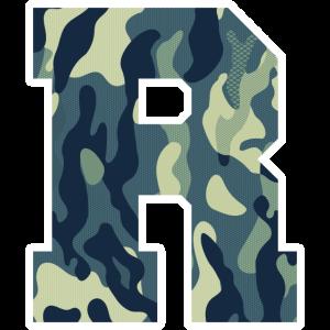 Dein Lieblingsbuchstabe R Camouflage