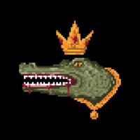 Krokodile Pixel Art Reptil Alligator