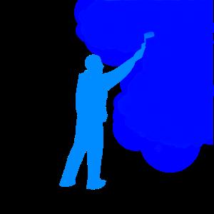 Ein Maler bei der Arbeit