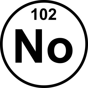 Nobelium (No) (element 102)