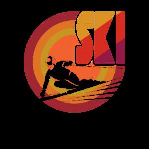 Retro Vintage Skiing 1