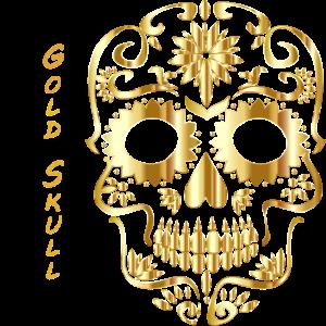 Gold Skull goldener Schädel