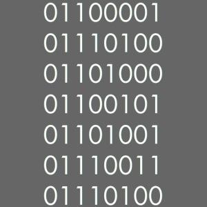 atheist Binary Code