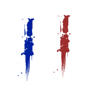 Frankreich Flagge France Fan Paris Eifelturm Merci