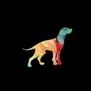Hund Silhouette double exposure Geschenk