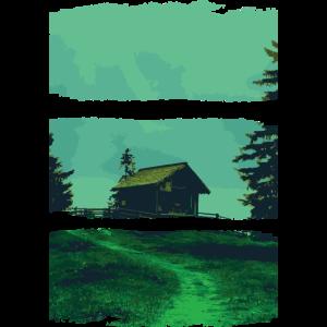 Natur & Fashion - Waldhütte