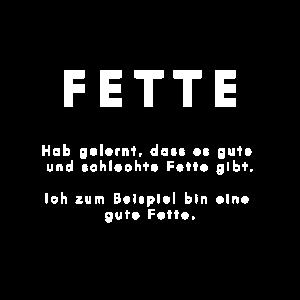 FETTE COOLE LUSTIGER GESCHENKIDEE FUER DICKE FETTE