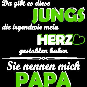 Jungs Papa Herz gestohlen Familie Geschenk