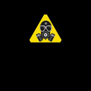 Vorsicht Gasmaske