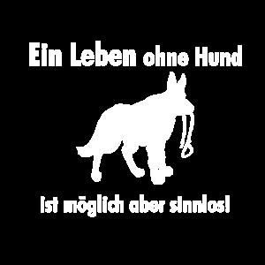 Schaeferhund Silhouette Leine Hundehalter Geschenk