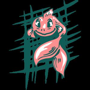 Kühles Design - Fischillustration