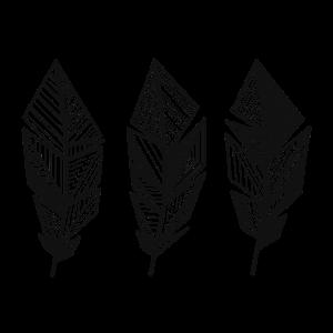 Pattern Feather / boho, hippie, geometrisch