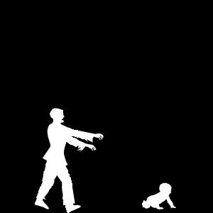 the walking dad Papa Vaterschaft Baby