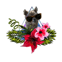 Hawaii Aloha Lama Motiv - Hibiskus Blumen Alpaka