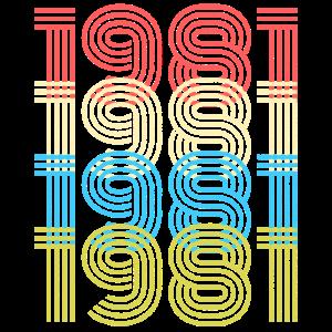 1981 Geburtsjahr- Retro Vintage Look Geburtstag