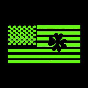 St Patricks Day - Grüne Flagge mit Kleeblatt