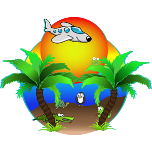 Lustige Tiere im Strandurlaub