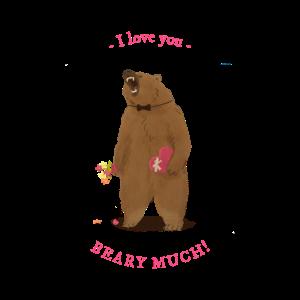 I love you Beary Much Bear Valentine Shirt
