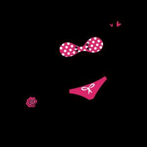 Sexy Rosa Roter Bikini