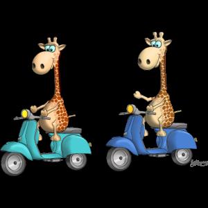 Lustige Giraffen