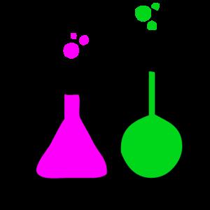 Bunte Chemikalien im Labor