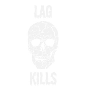 Lag Kills! Lagging Lagger Schädel Skull Gaming