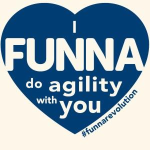 I FUNNA Do Agility With You! Blue