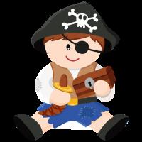 Pirat Junge Braun