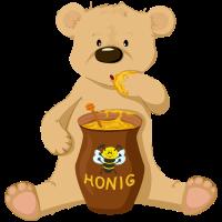 Bär mit Honig