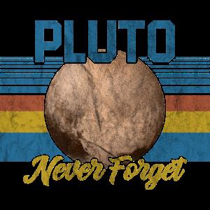 Pluto Never Forget Astrologie Geschenk Planet
