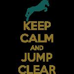 Keep Calm and Jump Clear Horse Design