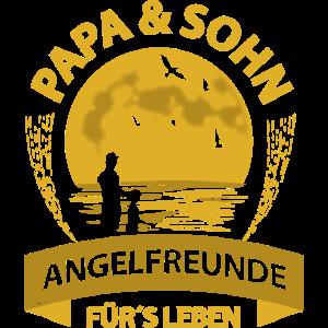 Papa und Sohn Angelfreunde Angler Angeln Sprüche