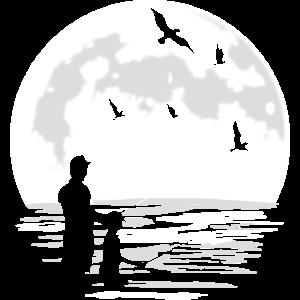 Papa Vater und Sohn Angeln Angel Angler Geschenk
