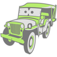 Kids Cars - altgedienter Jeep