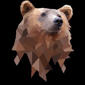 Polygon Bear Design - Bären Geometrie Illustration
