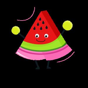 Jubelnde Wassermelone Cheerleader Geschenk Frucht
