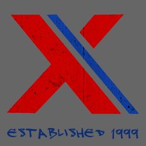 extrembb logo red blue x