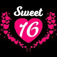 Sweet 16 mit Herzen