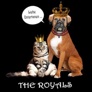 Boxer Royal und Katze: Liebe Untertanen